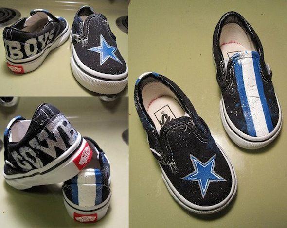 Dallas Cowboys Custom Shoes: Nike Air Force Blazer, Vans and Adidas