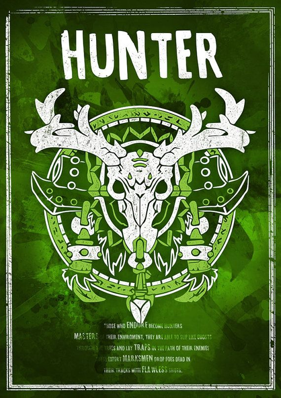 Discontinued World of Warcraft: Hunter Class Symbol by SodaArcade