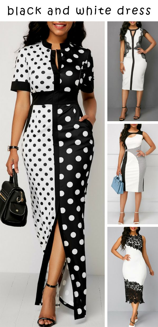 Black And White Dress Outfit Ideas Liligal Dresses Womenswear