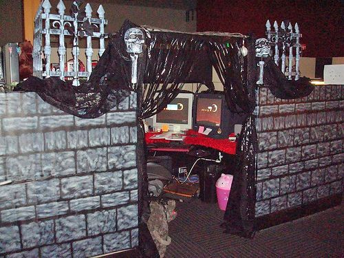 Halloween Cubicle Decorating Ideas                                                                                                                                                                                 More