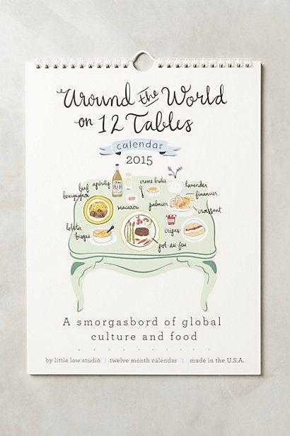 Around the World on Twelve Tables Calendar ... so cute!