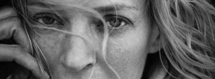 Uma Thurman -by Peter Lindbergh for Pirelli - Kalender: Mit Uma & Co. durch 2017