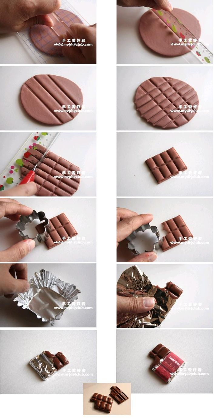 DIY Polymer Clay Chocolate Tutorial