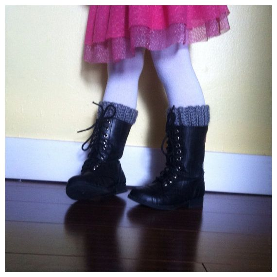Boot Toppers for toddler in grey crochet by sophiezhappy on Etsy, $20.00