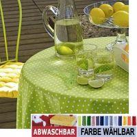 * BISTRO PUNTO Tischdecke abwaschbar 150x200cm oval