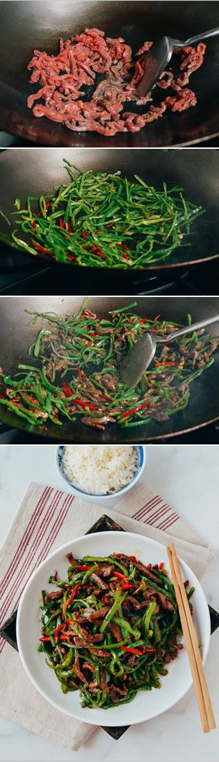 Beef and Pepper Stir Fry, 小椒牛肉丝