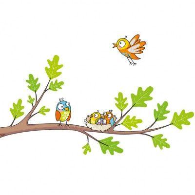 Ce sticker le nid de la marque Série-Golo apporte un décor ludique et coloré à la chambre d'un enfant.