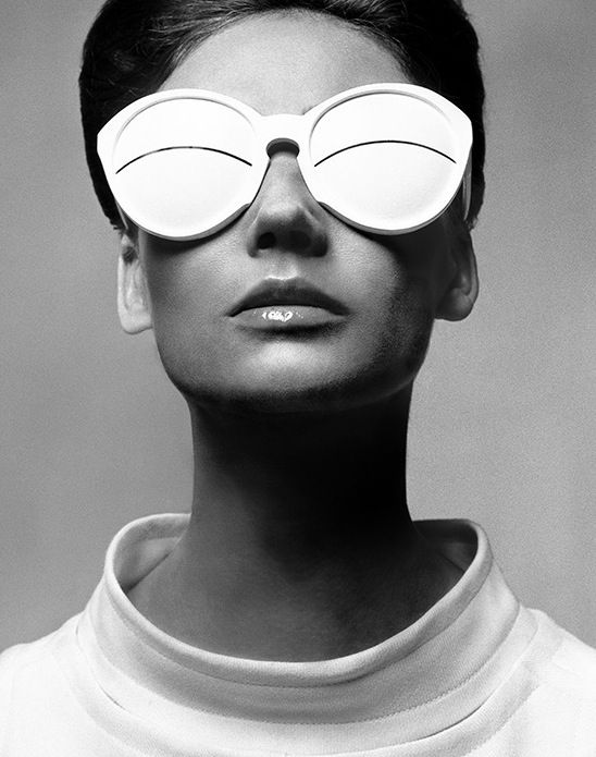 Richard Avedon (American, 1923-2004), Courrèges glasses, c. 1960. © The Richard Avedon Foundation.