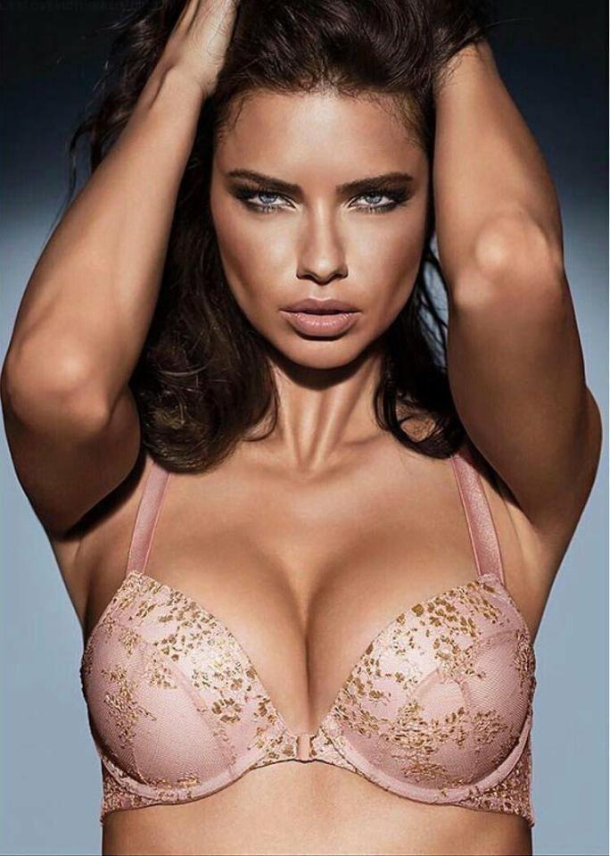 f5dba23cdce Adriana Lima flashes her bum in sheer black underwear in new ...