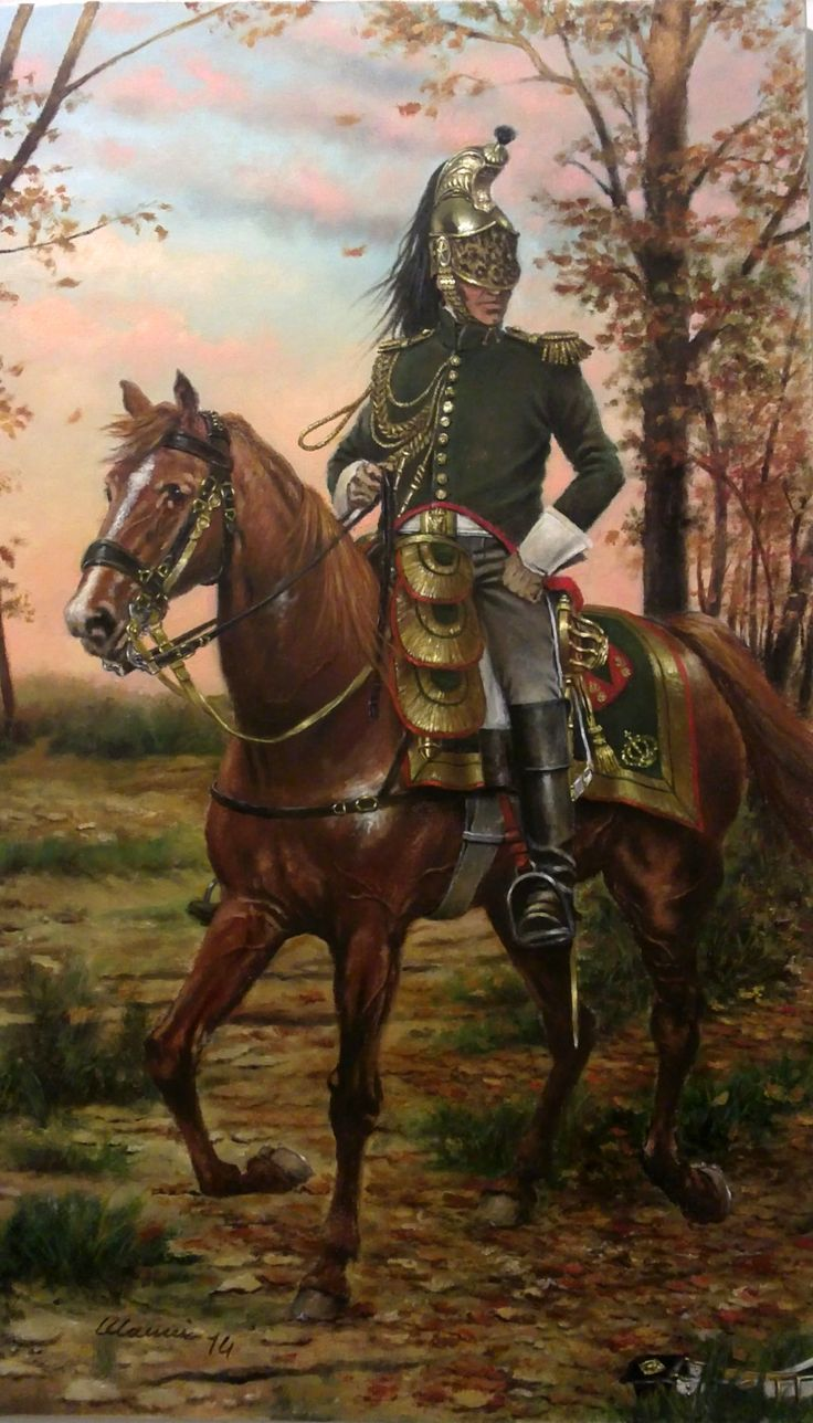 Officer of the French Dragoons of the Imperial Guard, 1813-1814, by Stefano Manni.