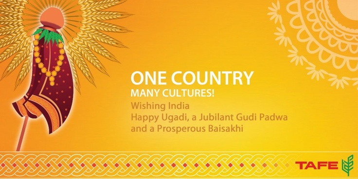 Happy Ugadi, Gudi Padwa, Baisakhi! | TAFE Greetings ...