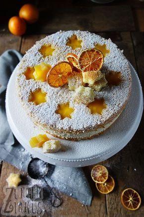 Speculoos – Käsekuchentorte mit Orange   – Torten & Törtchen | Cakes
