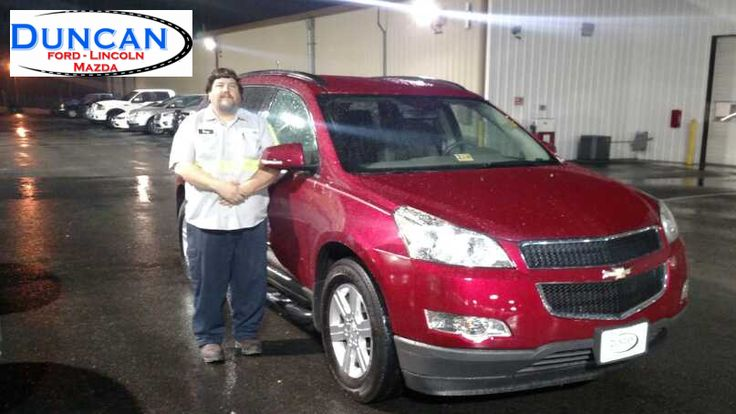 Thank you and congratulations Doug Johnson all the way from Inwood West Virginia on the purchase of your 2012 Chevrolet Traverse from Steve Price at Duncan Ford Lincoln Mazda in Blacksburg Virginia!