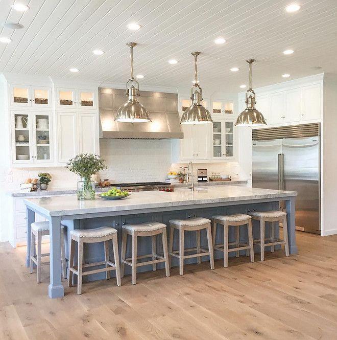 Kitchen Island Table Ideas best 20 kitchen island table ideas on pinterest best 20 kitchen island table ideas on pinterest kitchen Gorgeous Kitchen With Wide Plank White Oak Flooring