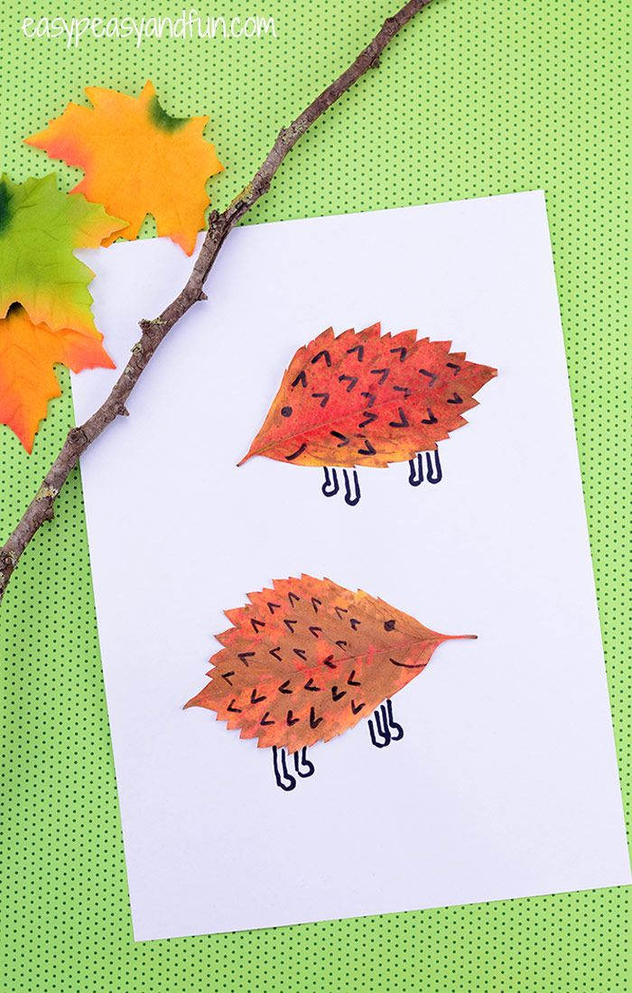 Leaf Hedgehogs Craft Must Do Crafts And Activities For Kids