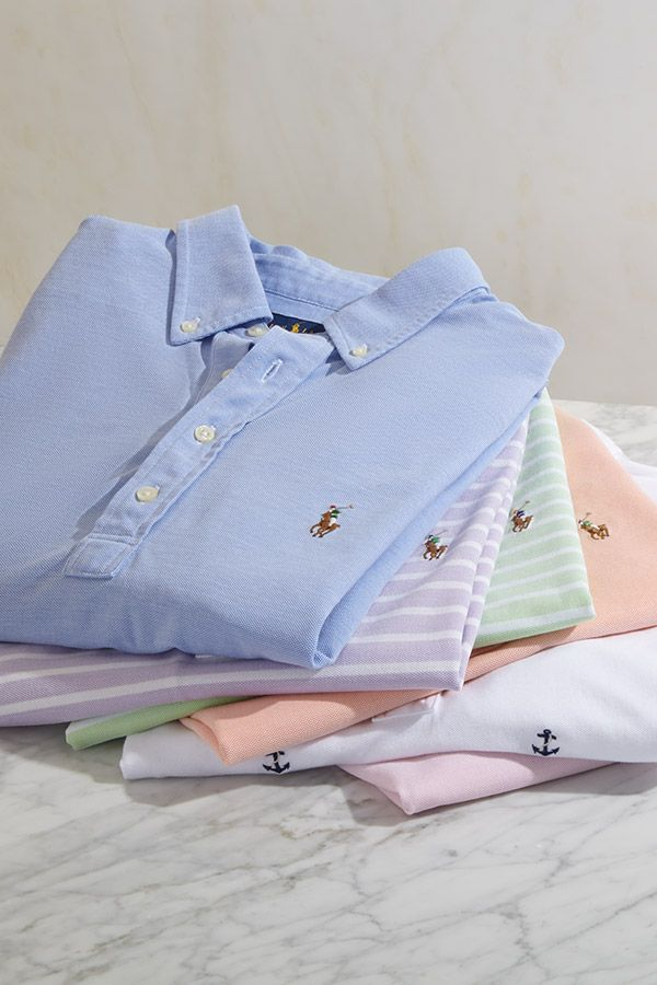 Welcome summer with a stack of cheerful polos from #POLORalphLauren. Find your favorite colors and prints at Saks.com. #SaksMen