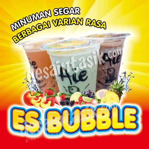 20+ Fantastic Ideas Contoh Spanduk Minuman Bubble