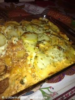Recept - Karins Potatis & Köttfärsgratäng