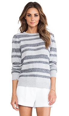 A.l.c. Cooper Stripe Sweater In Light Grey & Navy WAS $262.21 NOW $183.76 http://www.richgurl.com/linkout/1571526
