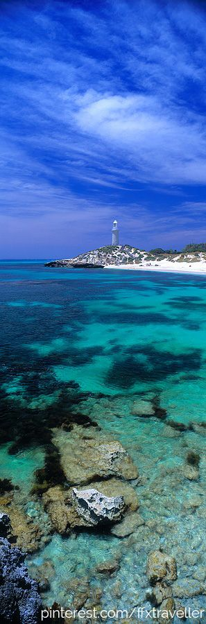 Bathurst Lighthouse, Rottnest Island - just a 20 minute boat ride from Perth! #Australia