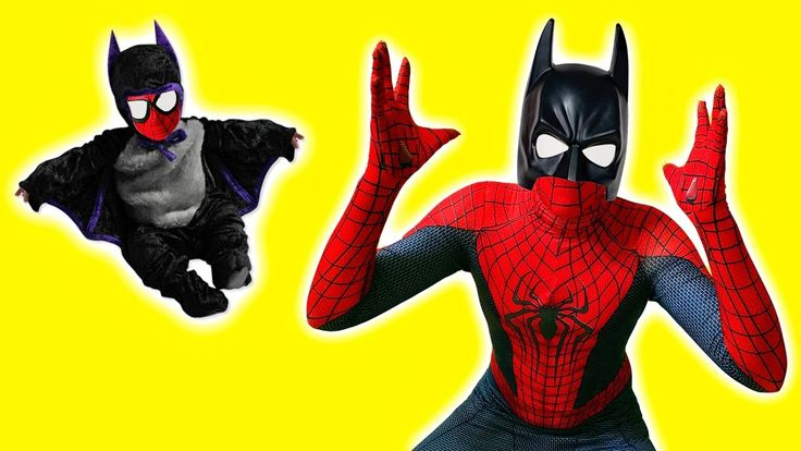 Spiderman wearing Batman Costume and got it dirty! Funny SuperHeroes IRL