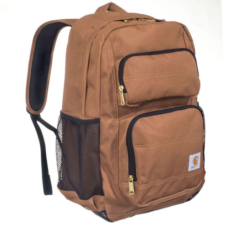 Carhartt Bags: Unisex 190321 02 Carhartt Brown Legacy Standard Work Backpack #CarharttClothing #DickiesWorkwear #WolverineBoots #TimberlandProBoots #WolverineSteelToeBoots #SteelToeShoes #WorkBoots #CarharttJackets #WranglerJeans #CarhartBibOveralls #CarharttPants