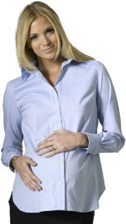 Rosie Pope Women's Classic Oxford Shirt Light Blue MED Rosie Pope. $78.00