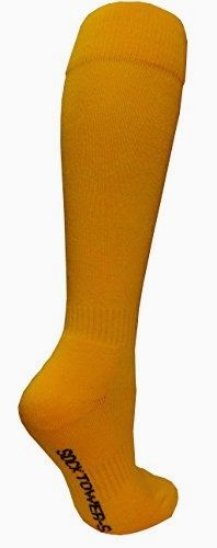 Socktower #Women's #Sports Baseball Softball Plain Knee High Socks (SHOE Size 6-13, Golden Yellow) Made by #SockTower Color #Golden Yellow. Sock S=Women Shoe Size=3-6/ Men=4-6/ Youth Kid =12-4. Best to fit Foot= 7.12'' to 8.75''. FOOT LENGTH: Before Stretch= 6.5''. After=8.5''. CALF LENGTH: Before Stretch= 12.5''. After=15.5'' (try on model foot =8.5'').