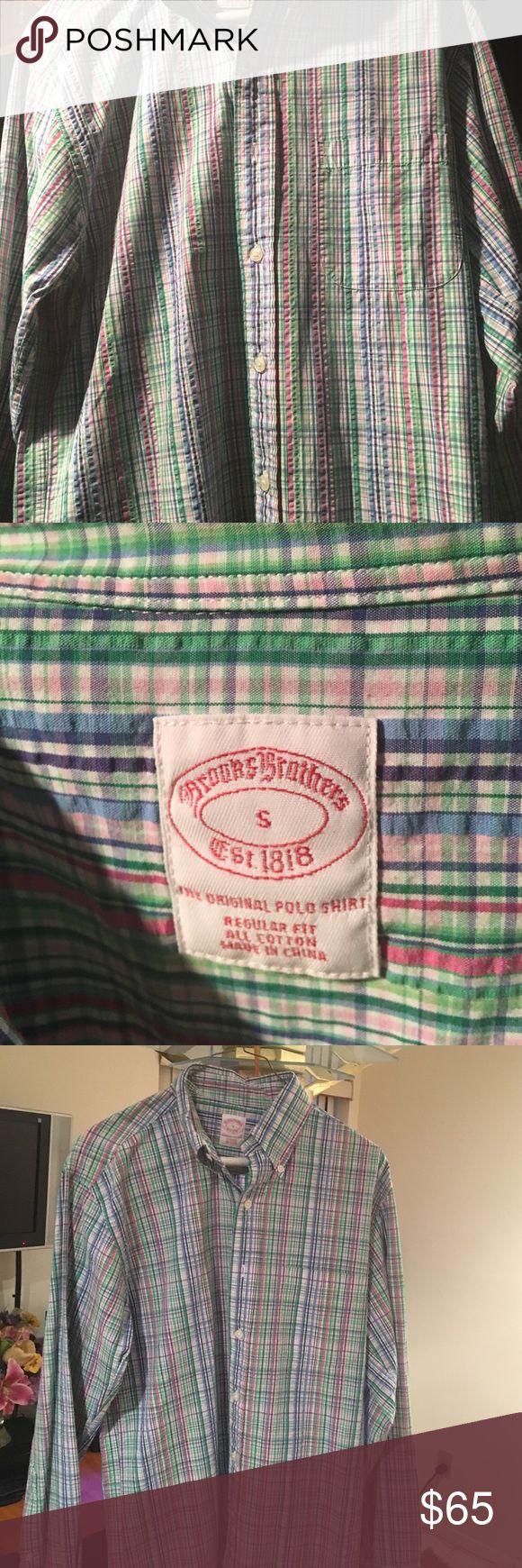Brooks Brothers Men's Shirt Brooks Brothers Men's button down casual shirt Brooks Brothers Shirts Casual Button Down Shirts