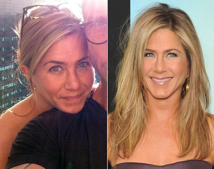 "Even when she's not all dolled up, Jennifer Aniston is still one of the most gorgeous women in Hollywood. The 44-year-old actress went sans makeup for an Instagram photo with her longtime hair stylist Chris McMillan. ""Best friends, no makeup, girl-time,"" McMillan wrote as a caption, using hash tags."