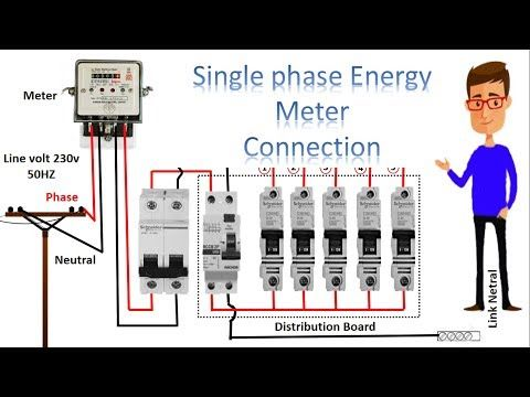 single phase meter wiring diagram energy meter energy meter