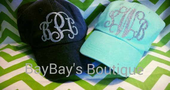 Hey, I found this really awesome Etsy listing at https://www.etsy.com/listing/195782542/glitter-vinyl-monogram-cap