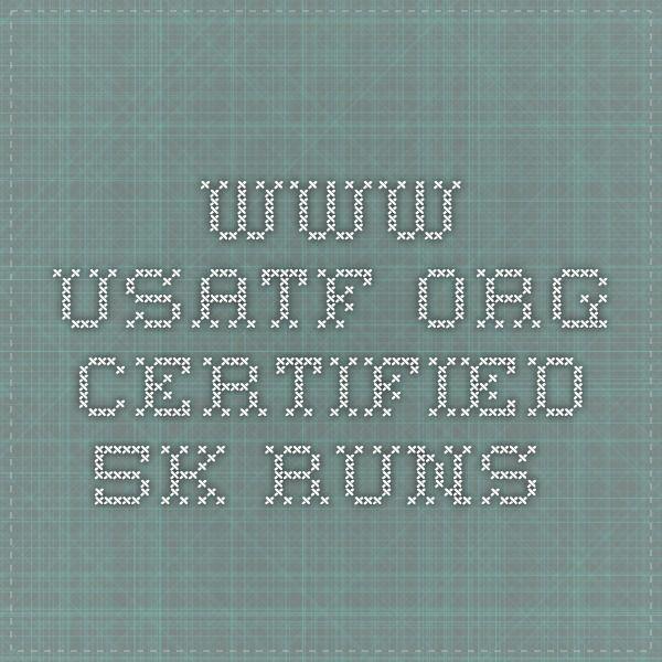 www.usatf.org certified 5k runs