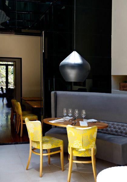 Kitchens, Interiors, Restaurants Design, Paisley Print, Grey, Circaprince3Jpg 400573, Yellow Chairs, Gray Yellow, Hotels