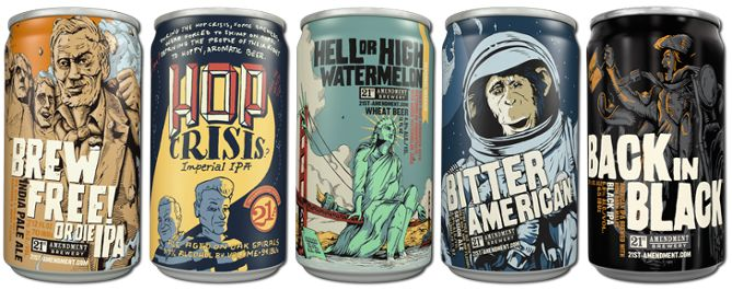 Didn't think some of the best beer label designs would be on a can, did you? For 21st Amendment Brewery, the decision to use cans -- and only cans -- was entirely intentional.