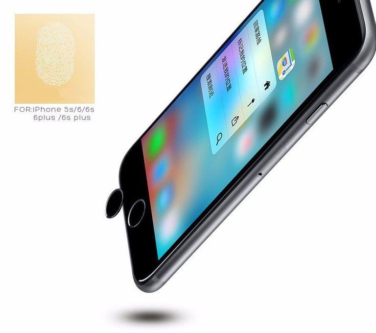 Rock Touch ID Sensor Finger Aluminum Nano Home Button Sticker For iPhone SE 6 6S Plus