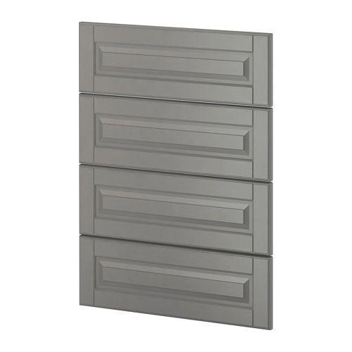 IKEA - METOD, 4 faces pr lave-vaisselle, Bodbyn gris, , Vous pouvez facilement aligner la façade du lave-vaisselle avec les portes et faces de tiroir de la cuisine pour un aspect rectiligne en utilisant la barre de connexion VÅGLIG.