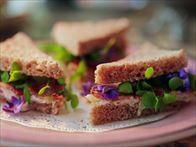 Borage, Benedictine and Bacon Sandwiches Recipe : Damaris Phillips : Food Network