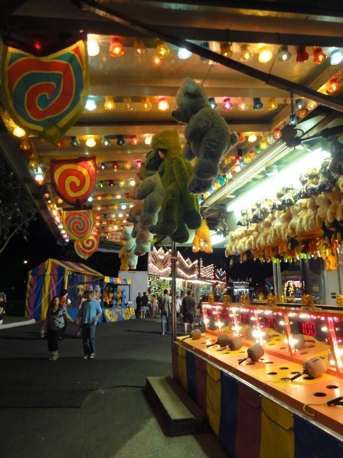 Fun at the midway at Canal, Railway and Chocolate Festival