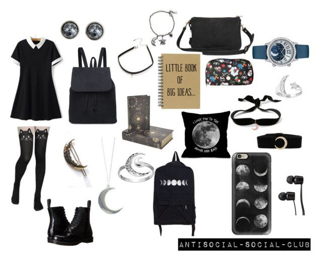"""""""Moon^^"""" by guns-nicole-roses on Polyvore featuring Dr. Martens, LeSportsac, Vans, Aamaya by priyanka, BlackMoon, Casetify, Primrose, Dot & Bo, Jaeger-LeCoultre and Chanel"""