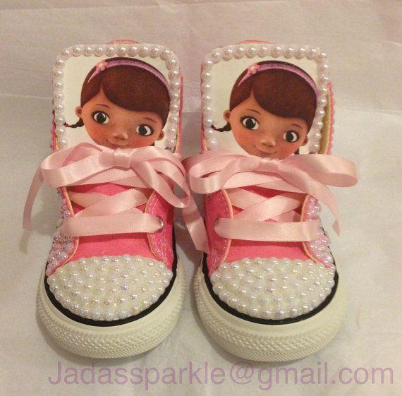 Doc Mcstuffins custom converse for girls by Jadassparkle on Etsy, $80.00