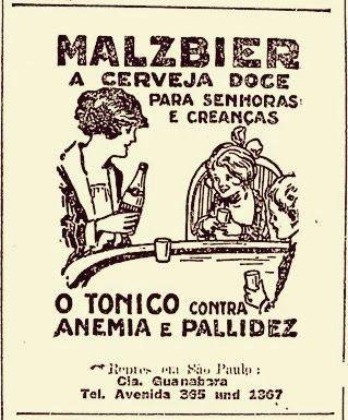 Cerveja Malzbier (para crianças e senhoras) - Anos 30 - Propagandas Históricas