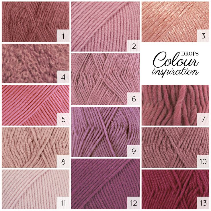 Old pink shades in DROPS yarns. See more pink shades on http://www.garnstudio.com/lang/en/searchcolours.php #colourlove