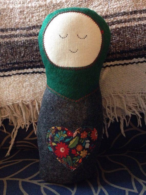 Minne Love Felt Matroyska Doll by mplsmomma on Etsy #matroyshka #russiandoll #doll #kids #Minnesota #minneapolis