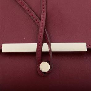 Wysmakowana kopertówka w kolorze bordowym