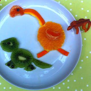 Dinosaur fruit salad. Kids FoodFruit Salad