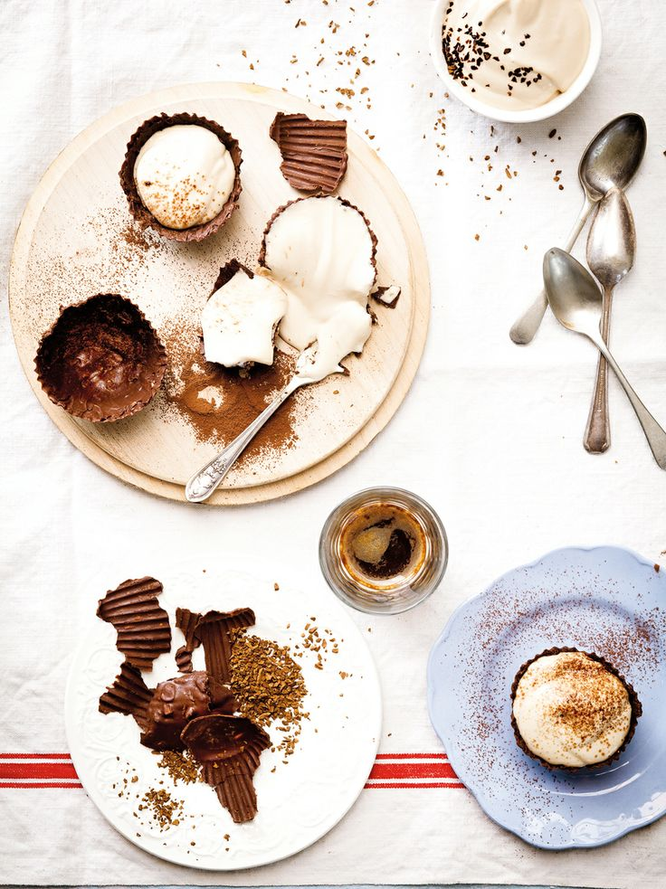 Siba Mtongana's Mocha Cheesecake Chocolate Cups - Taste Jan/Feb issue.