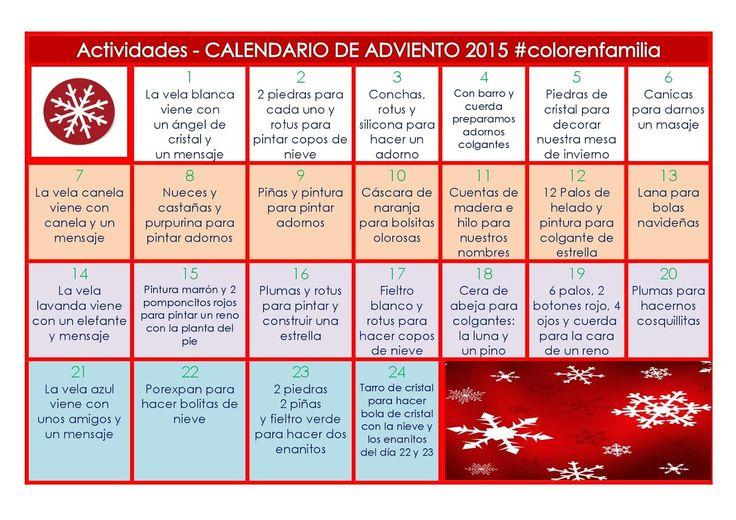 COLOR en FAMILIA: WALDORF:CALENDARIO DE ADVIENTO 2015 - PREPARACIÓN