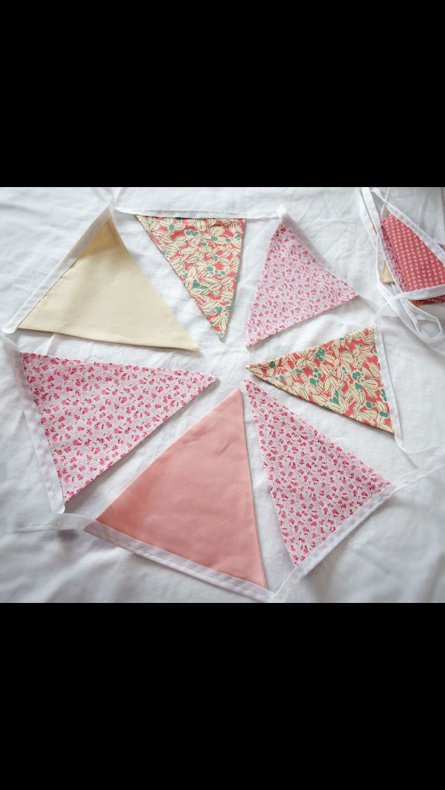 Vintage pinks bunting available for hire