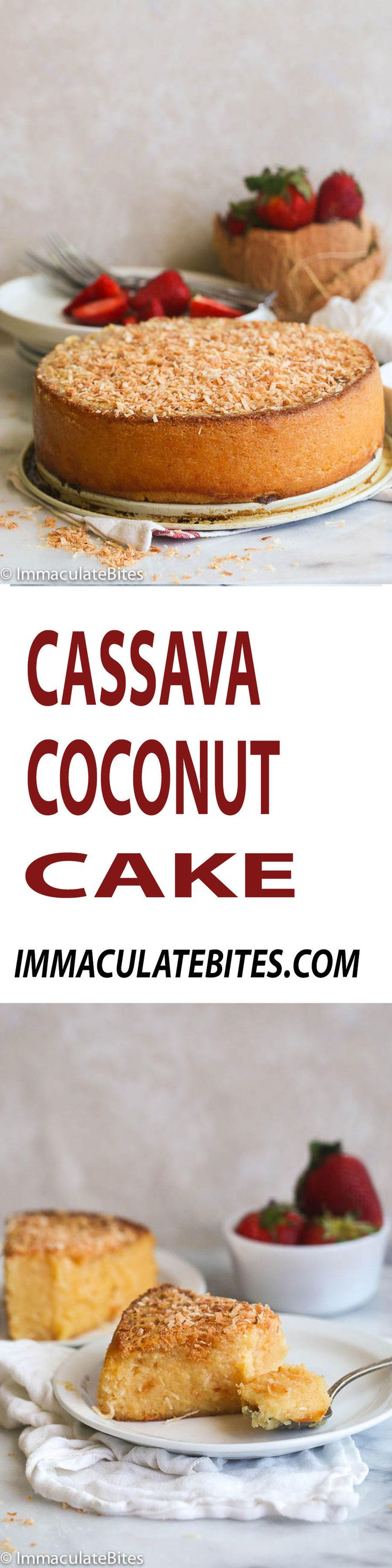 Cassava Coconut Cake- Easy yet Sumptuous Gluten free cake made  with condensed and coconut milk. And it only requires 10 mins prep